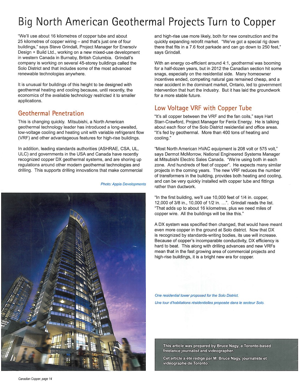 Enersolv in Canadian Copper Magazine